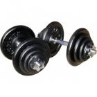 Deka Barbell DB2012 gumi egykezes súlyzó szett 40 kg